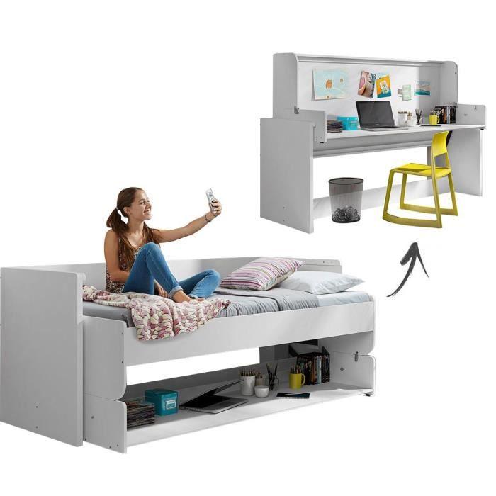 lit escamotable bureau achat vente lit escamotable bureau pas cher cdiscount. Black Bedroom Furniture Sets. Home Design Ideas