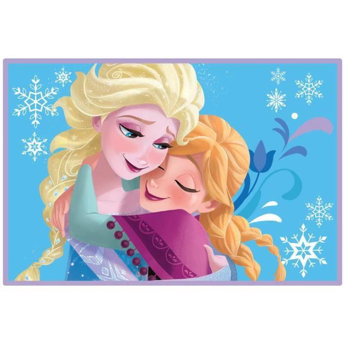Grand tapis descente de lit disney la reine des neiges 120 x 80 cm achat vente tapis cdiscount Tapis reine des neiges