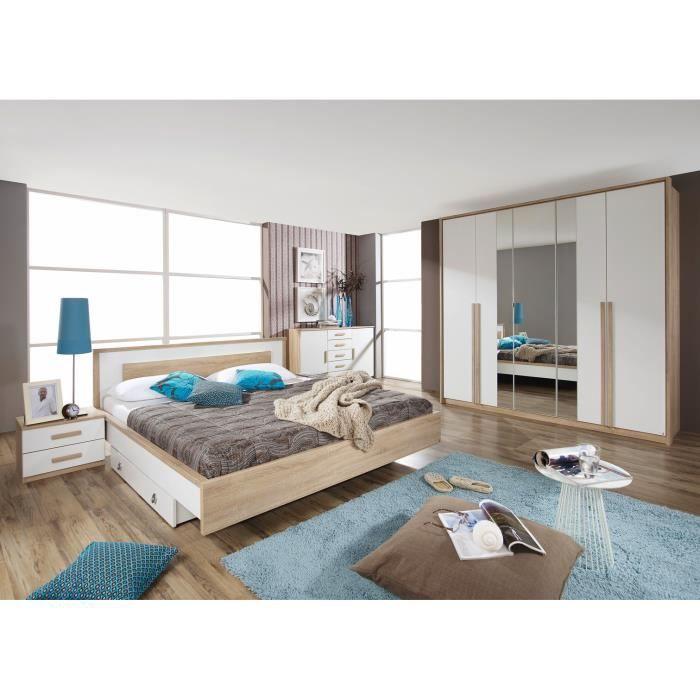 Chambre adulte compl te faustine avec tiroir lit achat for Chambre adulte complete venise avec tiroir lit