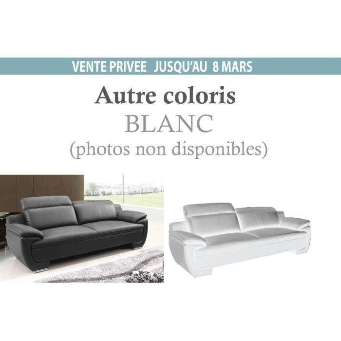 canap 3 places en cuir italien rimini achat vente. Black Bedroom Furniture Sets. Home Design Ideas
