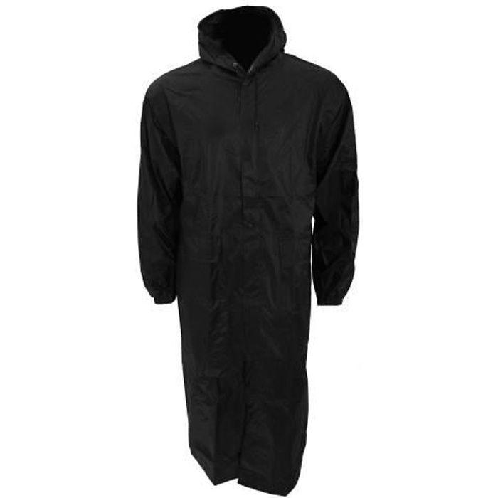 manteau long imperm able capuche homme noir achat vente imperm able trench cdiscount. Black Bedroom Furniture Sets. Home Design Ideas