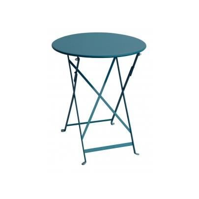 Petite table de jardin pliable en m tal canebiere achat vente table de ja - Table de jardin en metal ...