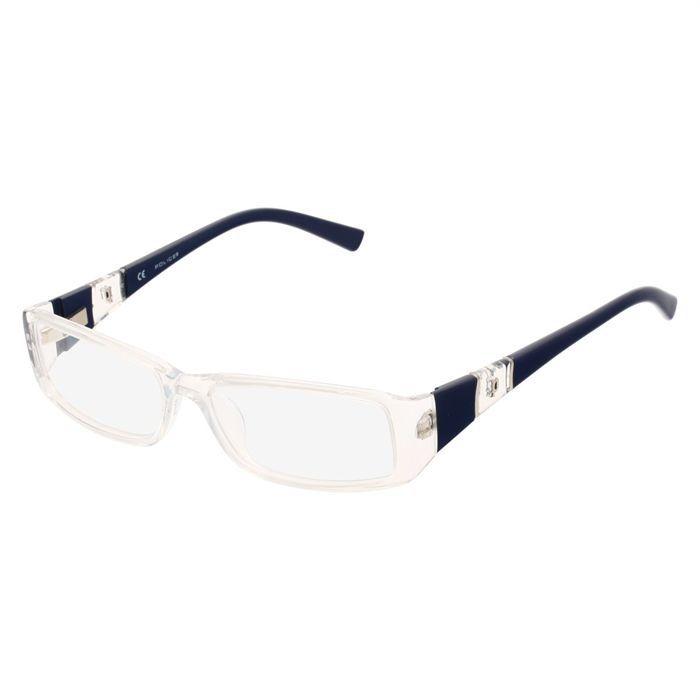 police monture de lunettes de vue mixte transparent bleu achat vente lunettes de vue police. Black Bedroom Furniture Sets. Home Design Ideas