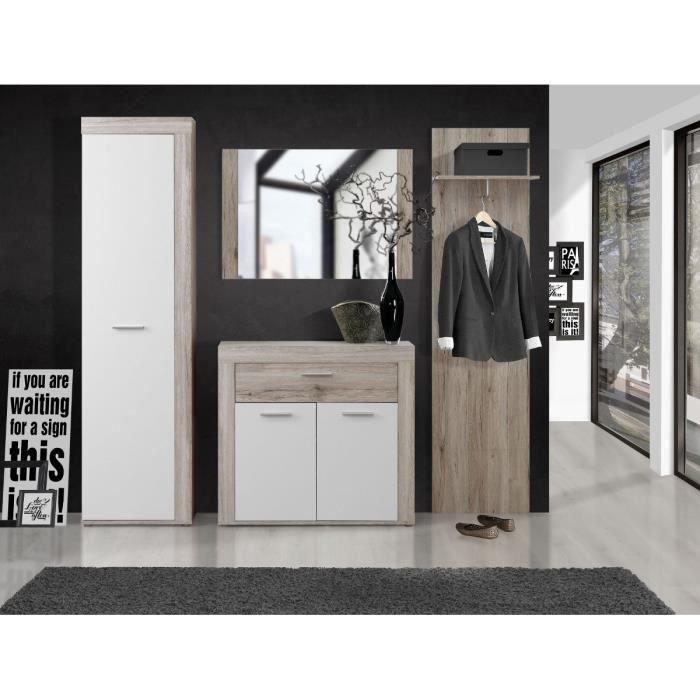 meuble d entrée - achat / vente meuble d entrée pas cher - cdiscount - Meuble Entree Design Pas Cher