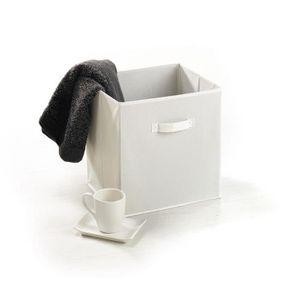 Panier de rangement intissé 33 cm blanc