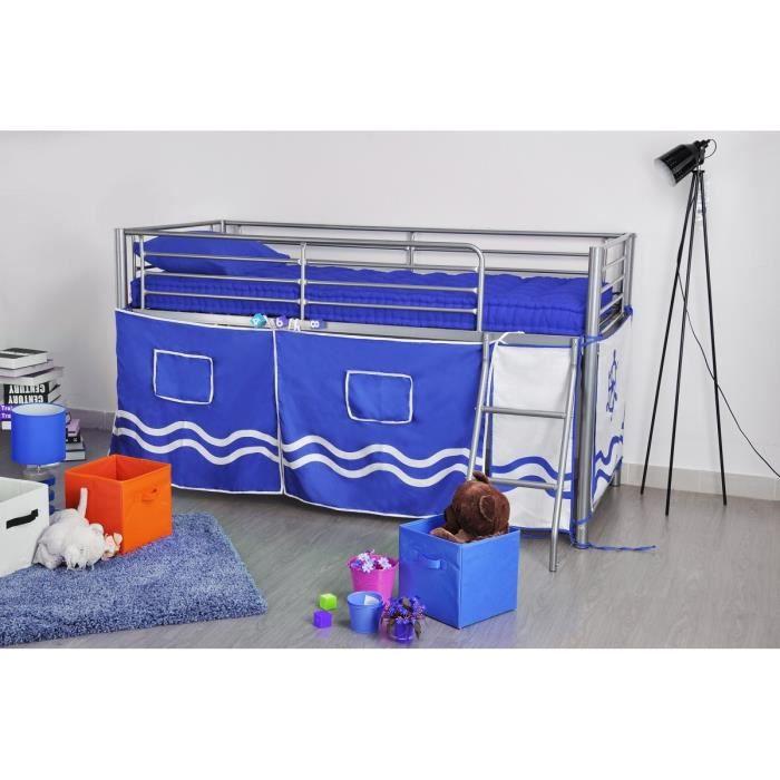 finlandek lit sur lev lintu 190x90 cm tissu bateau. Black Bedroom Furniture Sets. Home Design Ideas