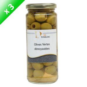 OLIVE D DE TOULZAC Olive Vertes Denoyautées 37cl