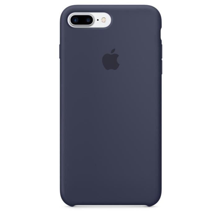 apple coque en silicone pour iphone 7 plus bleu nuit achat coque bumper pas cher avis et. Black Bedroom Furniture Sets. Home Design Ideas