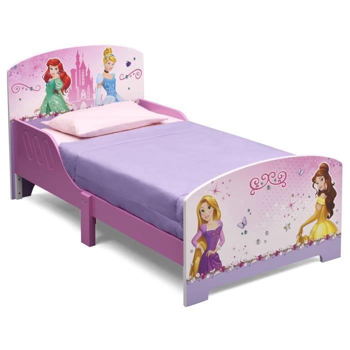 disney princesses lit enfant en bois 70 x 140cm achat vente structure de lit cdiscount. Black Bedroom Furniture Sets. Home Design Ideas