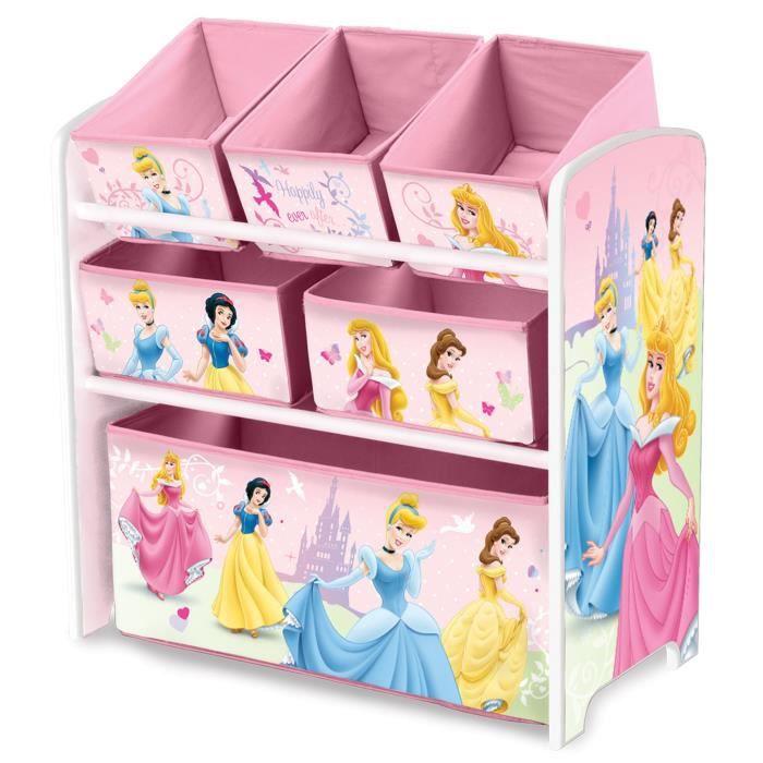 Disney Princesses Meuble De Rangement Enfant Jouets 6 Bacs