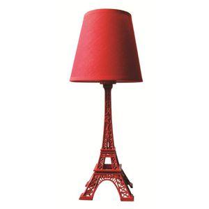LAMPE A POSER LAMPE TOUR EIFFEL Rouge hauteur 38 cm