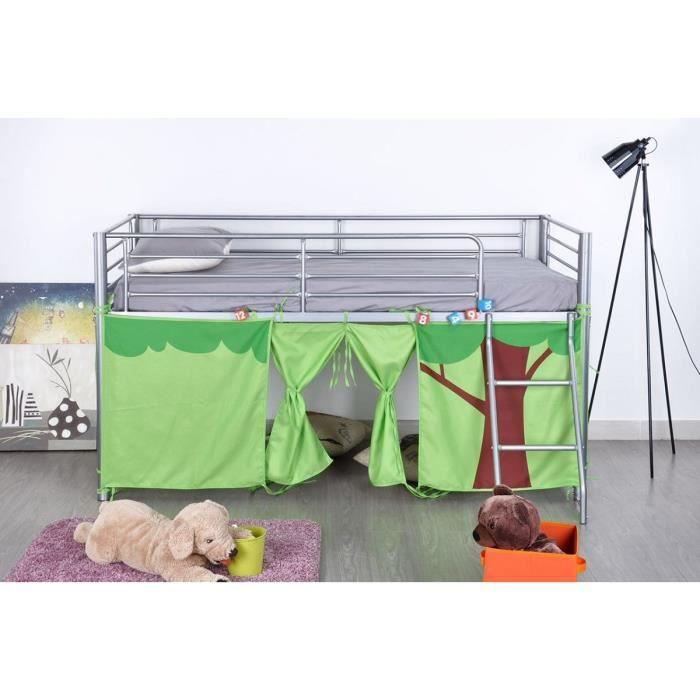 finlandek lit sur lev lintu 190x90 cm tissu foret. Black Bedroom Furniture Sets. Home Design Ideas