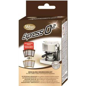 WPRO KMC800 Kit détartrant et dégraissant Express pour cafeti?res ? dosettes.