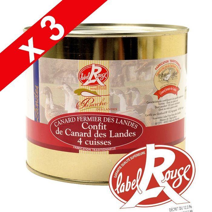 Cuisses de canard confites lr 1 8kg par 3 achat vente - Cuisiner des cuisses de canard confites ...