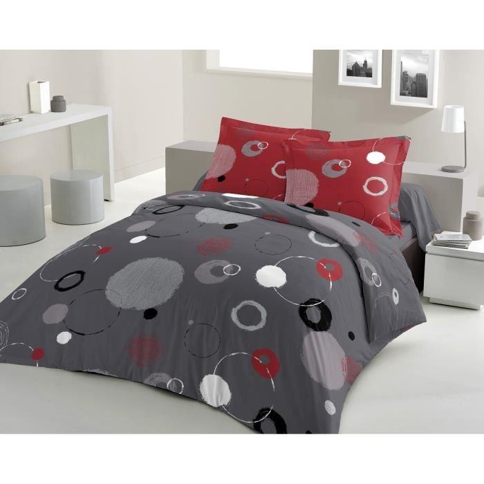 lovely home parure de couette pixiz 100 coton 1 housse de couette 240x260 cm 2 taies d. Black Bedroom Furniture Sets. Home Design Ideas