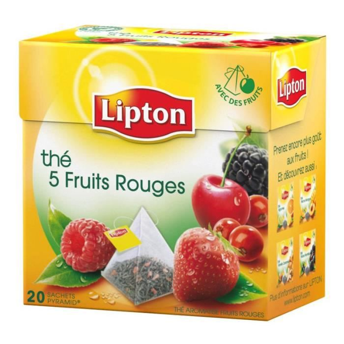 lipton th 5 fruits rouges 6 x 20 achat vente th lipton th 5 fruits rouges soldes. Black Bedroom Furniture Sets. Home Design Ideas
