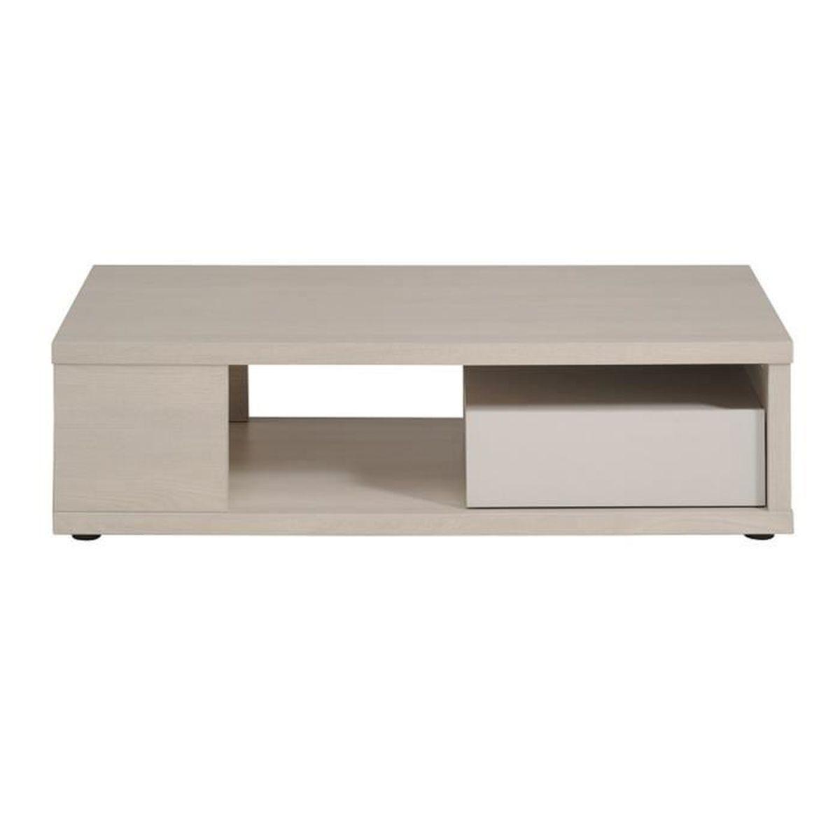 Table basse en panneaux de particules coloris acacia clair - Table basse en acacia ...