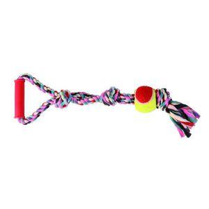 TRIXIE Balle de tennis sur une corde pour chien