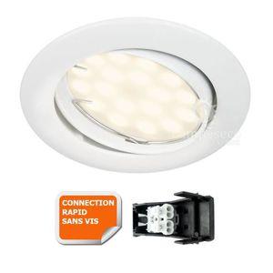 SPOTS - LIGNE DE SPOTS SPOT ENCASTRABLE ORIENTABLE LED 5W BLANC CHAUD