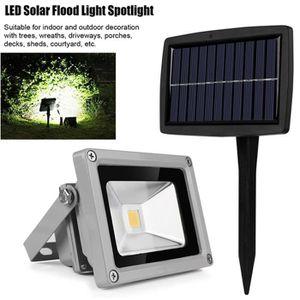 LAMPE DE JARDIN  10W LED Energie Solaire Projecteur Haute Puissance