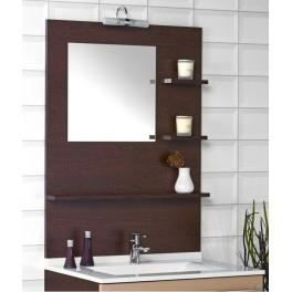 Miroir lumineux avec cr dence tag re cm achat vente miroir - Miroir salle de bain avec etagere ...