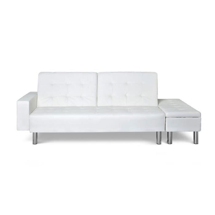 Canap lit banquette coffre blanc maxie achat vente canap sofa di - Banquette coffre blanc ...