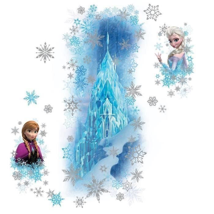 Stickers muraux la reine des neiges frozen le palais for Chambre reine des neiges
