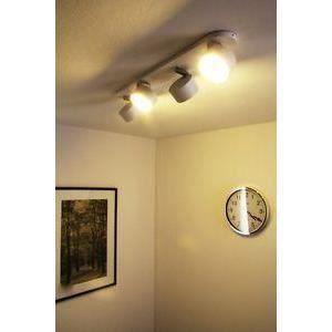 luminaire lustre lampe 4 spots sur rail philips ec achat. Black Bedroom Furniture Sets. Home Design Ideas