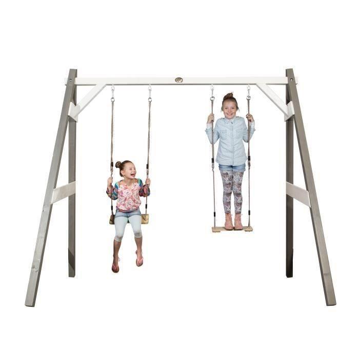balancoire portique 3 en 1 axi modulable 3 en 1 balan oire but de foot filet family fun. Black Bedroom Furniture Sets. Home Design Ideas