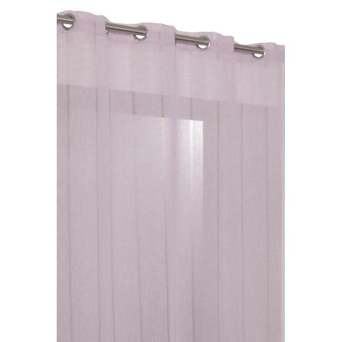 rideau voilage grande hauteur en effet lin avec achat vente rideau lin cdiscount. Black Bedroom Furniture Sets. Home Design Ideas