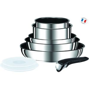 TEFAL INGENIO PREFERENCE Batterie de cuisine 8 pi?ces L9409802 18-20-22-24-28cm Tous feux dont induction inox