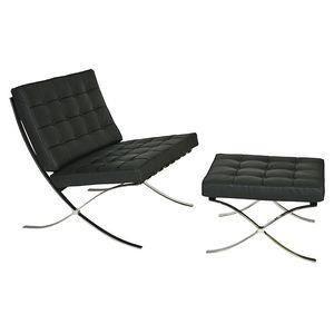 chauffeuse barcelona ottoman pu noir achat vente chauffeuse noir les soldes sur. Black Bedroom Furniture Sets. Home Design Ideas