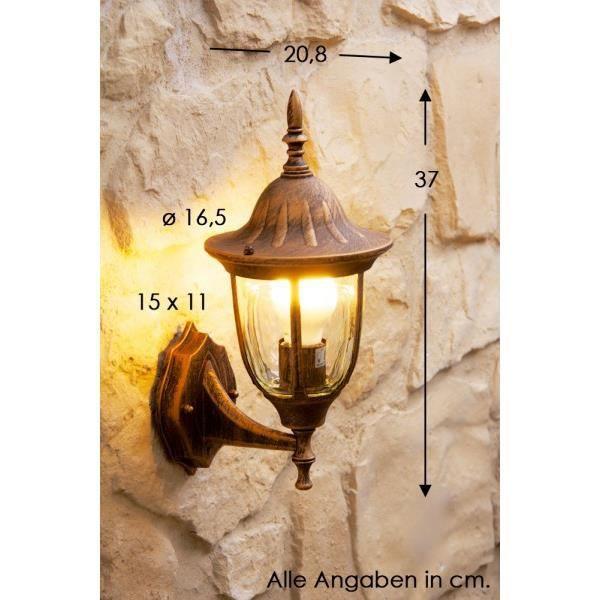 Applique lampe de jardin lampe murale spot verre achat for Applique murale 2 spots