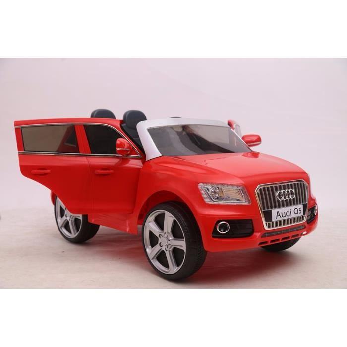 voiture lectrique pour enfant audi q5 rouge achat. Black Bedroom Furniture Sets. Home Design Ideas