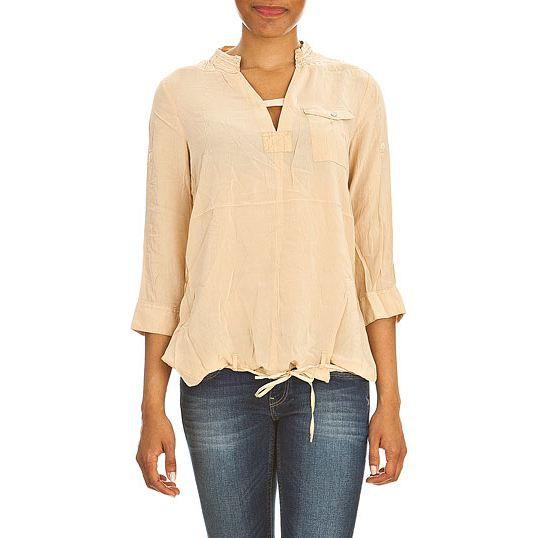 chemise g star t shirt so cr sh 3 4 beige achat vente chemisier blouse chemise g star t. Black Bedroom Furniture Sets. Home Design Ideas