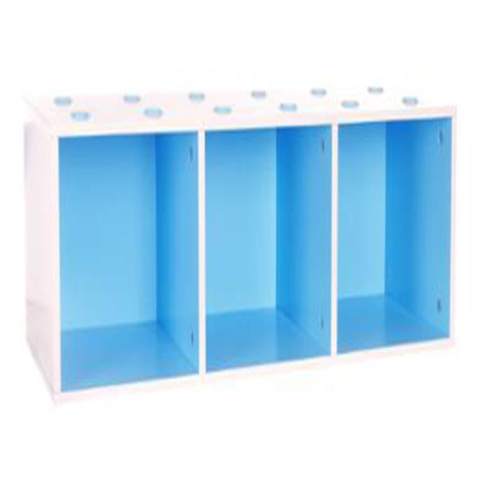 Meuble cube trio empilable bleu et blanc l 81 x p 27 x h - Meubles cubes modulables ...