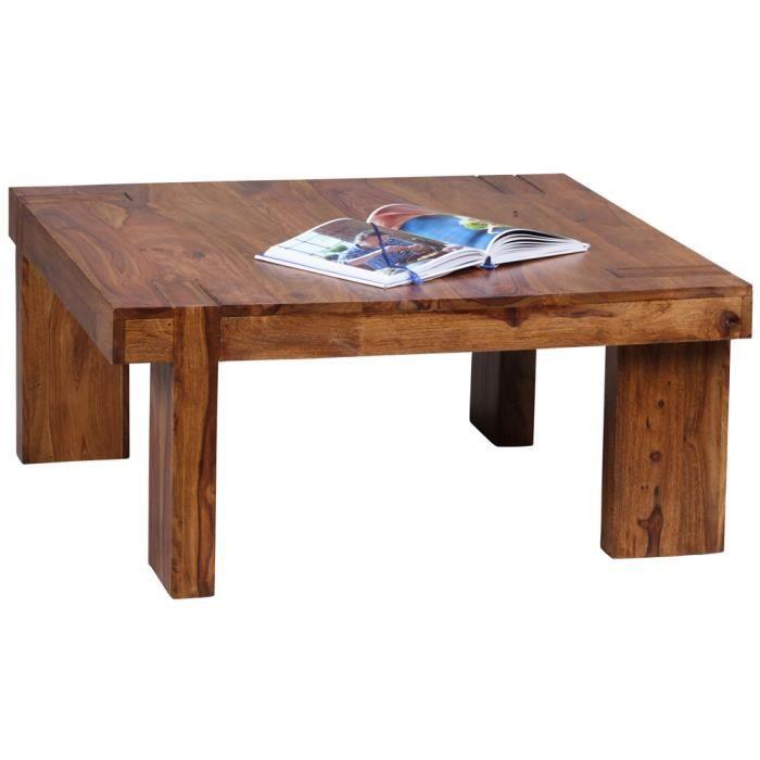 Table basse simple en bois palissandre couleur fonc 88 x for Table basse bois fonce