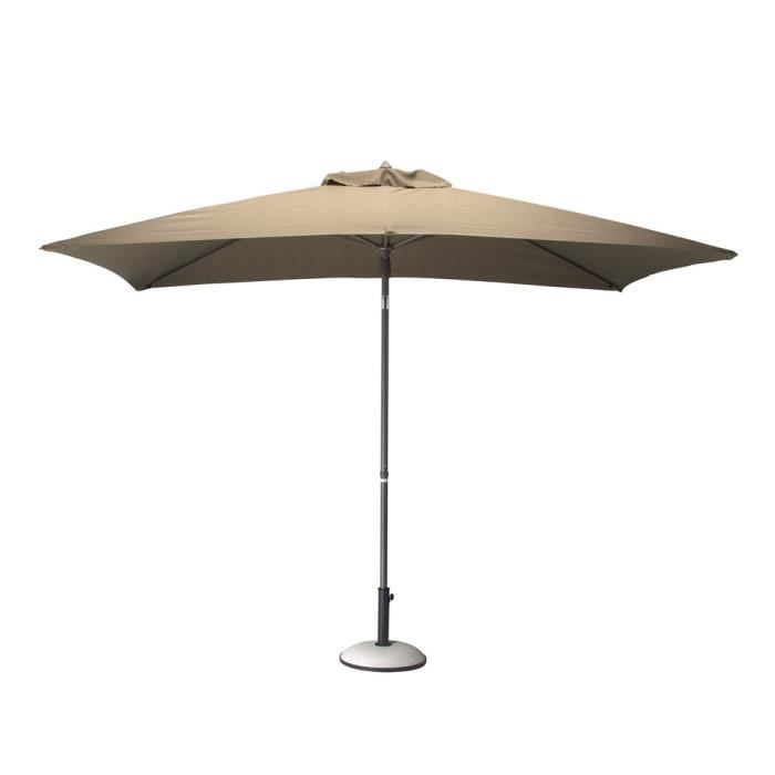 parasol alu 3x2 inclinable taupe achat vente parasol parasol alu 3x2 inclinable cdiscount. Black Bedroom Furniture Sets. Home Design Ideas
