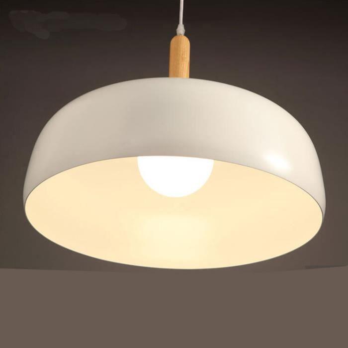 lustre moderne d 39 aluminium r tro lampe en bois massif lumi re de blanc pur 48cm de diam tre. Black Bedroom Furniture Sets. Home Design Ideas