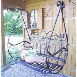balancelle jardin fer forg 110 x 110 x 55 cm achat vente balancelle balancelle jardin fer. Black Bedroom Furniture Sets. Home Design Ideas