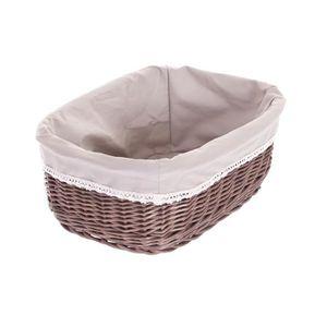 corbeille en osier gris achat vente corbeille en osier gris pas cher soldes cdiscount. Black Bedroom Furniture Sets. Home Design Ideas