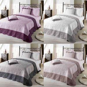 couvre lit boutis gris achat vente couvre lit boutis gris pas cher cdiscount. Black Bedroom Furniture Sets. Home Design Ideas