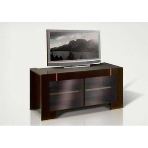 meuble tv avec portes vitrees moderne wenge sans eclairage supplementaire achat vente meuble. Black Bedroom Furniture Sets. Home Design Ideas
