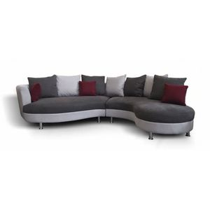 Canape d angle moderne achat vente canape d angle for Canape d angle arrondi but