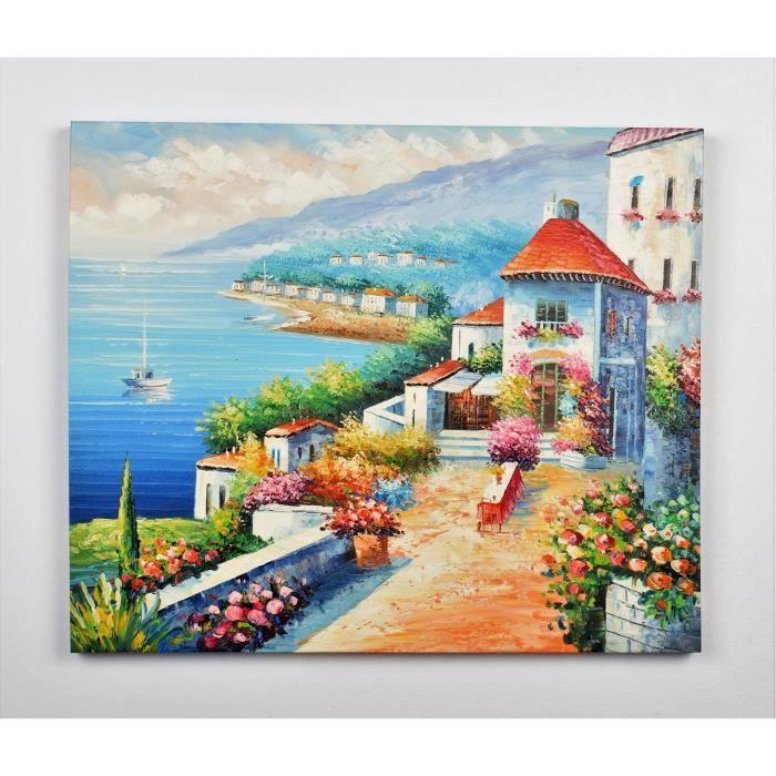 tableau peinture mer achat vente tableau peinture mer pas cher les soldes sur cdiscount. Black Bedroom Furniture Sets. Home Design Ideas