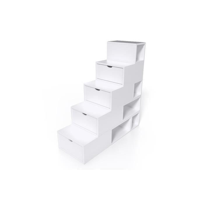 escalier cube de rangement hauteur 125 cm achat vente. Black Bedroom Furniture Sets. Home Design Ideas