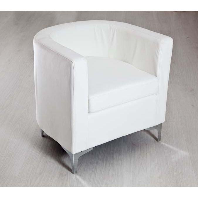fauteuil cabriolet blanc achat vente fauteuil mati re de la structure bois massif cdiscount. Black Bedroom Furniture Sets. Home Design Ideas