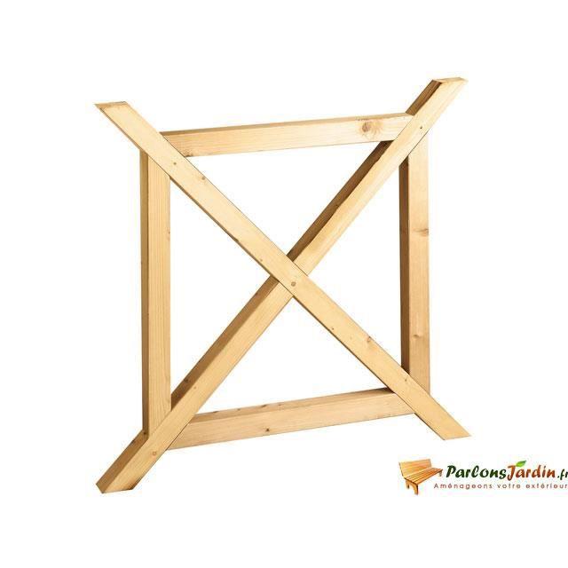 Balustre en bois en Croix de St André pour balu? Achat / Vente