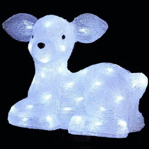 Deco noel renne lumineux effet givr 56 l achat for Deco lumineuse noel exterieur