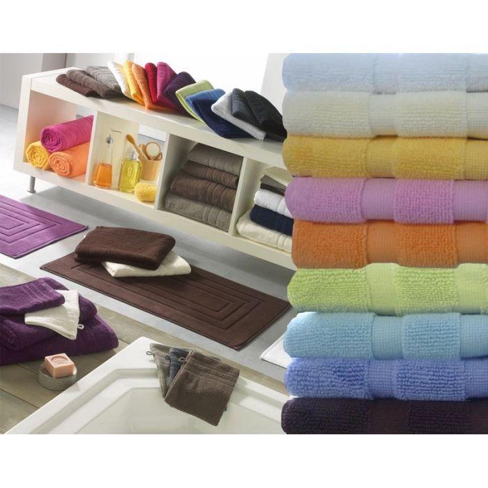 tapis ponge de salle de bain uni 50 x 85 cm blanc achat. Black Bedroom Furniture Sets. Home Design Ideas